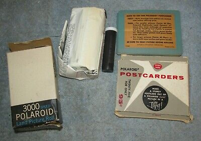Vintage POLAROID Type 47 Land Picture Roll Film 3000 & 1 Pack Postcarders J0932