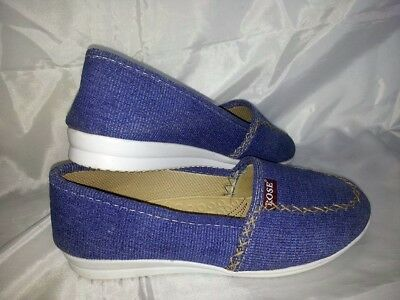 Ballerine donna 37 Scarpe Comfort Tessuto Jeans  Woman Shoes MADE ITALY