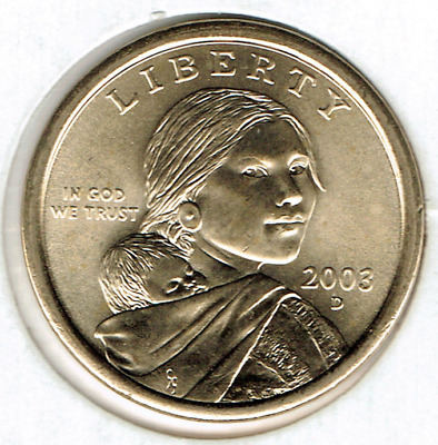 2003-D $1 Brilliant Uncirculated Business Strike Sacagawea Dollar Coin!