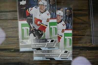 2018-19 UD Overtime Hockey SAM BENNETT 2 Card Lot #90 FLAMES