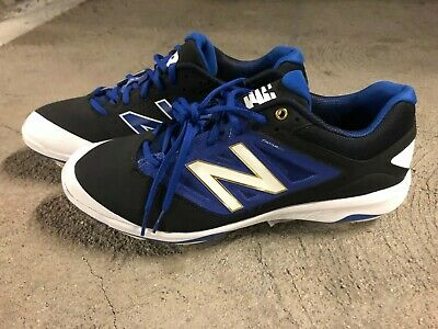 7ae905c5c988 NEW New Balance Blue/Black L4040-V3 Metal Baseball Spikes Cleats (size: