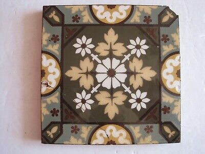 Antique Victorian Multi-Coloured Aesthetic Design Wall Tile