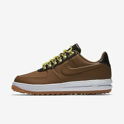 huge selection of 8f70d e5b5a NIKE LF1 DUCKBOOT Low AA1125-200 Ale Brown Black White Men's Air Force 1  Shoes