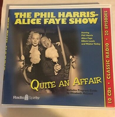 Phil Harris/Alice Faye Show: Quite An Affair (Old Time Radio) 10 CD Set LIKE NEW