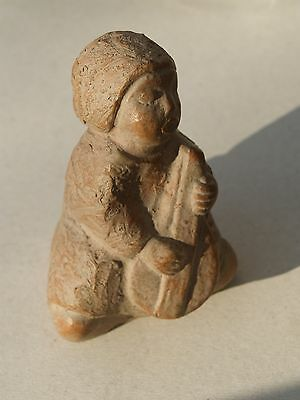 Ancient Greek / Roman - Terracotta Sculpture Imitation - Musician - Clay