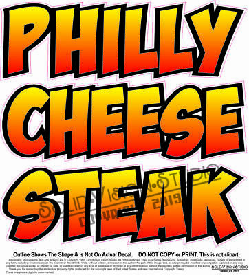 "Philly Cheese Steak 14/"" Decal Sandwich Concession Food Truck Vinyl Sign Sticker"