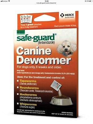 Merck Safe-Guard Canine Dewormer 3 x 1 gm