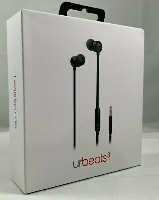 Authentic Beats by Dr. Dre MU982LL/A urBeats3 Earphones with 3.5mm Plug Black