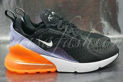 newest 10910 6a256 Nike Air Max 270 GS BG Black Twilight Pulse Purple Orange 943346-004 Size 6Y