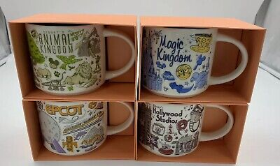 Disney Parks Starbucks Been There Series 2019 Set Of 4 Mugs Disney World Wdw