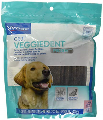 VEGGIEDENT FR3SH C.E.T Tartar Control Chews for Large Dogs >66lbs, 30ct
