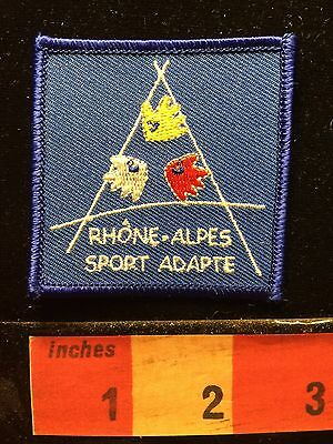 RHONE ALPES SPORT ADAPTE France Patch ~ Handicapped Special Needs Athletics 66J