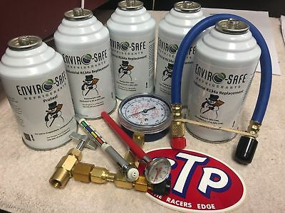 Enviro-Safe Industrial Refrigerant, R12 & R134a Replacement, Recharge kit