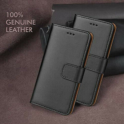 For Huawei P30 P20 P10 Plus P8 Real Genuine Leather Flip Wallet Slim Case Cover