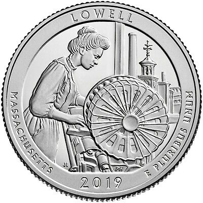 2019- S Clad Lowell Nat. Historic Pk. Quarter (Ma) **deep Cameo-Mirror Proof**
