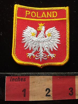 Country Of POLAND Flag Themed Patch Polish Coat Of Arms Eagle 60CC