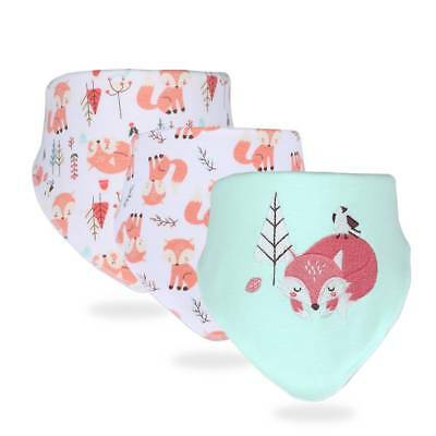 3pc Baby Bibs Cotton Bandana Bib Newborn Burp Cloths Feeding Accessories Muslin
