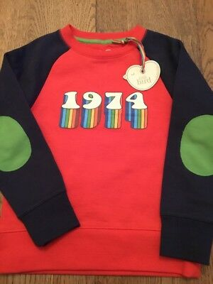 Little Bird Jools Oliver Unisex Retro 1974 Sweatshirt Age 3-4 Years ** Bnwt **