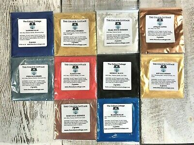 Mica Powder 10 Pk Sample Shimmer Pigment for Epoxy Resin Art, Soap 2g Pks NEW A7