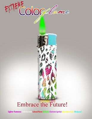 Color Flame Fire Butane Colorflame Colorful Torch Lighter Green Flame  Leopard