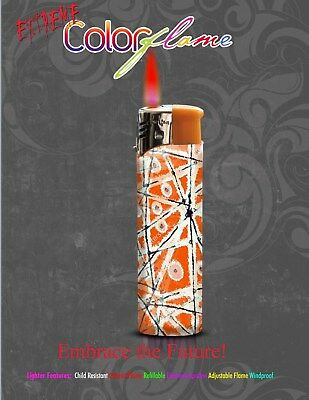Color Flame Fire Butane Colorflame Torch Red Flame 420 Lighter Refillable