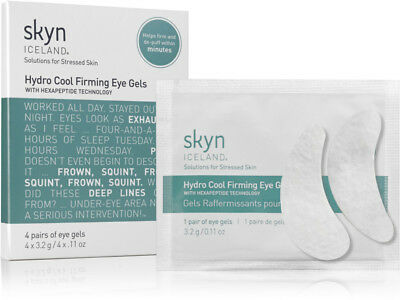 * SKYN ICELAND * Hydro Cool Firming Eye Gels! 4 PAIRS! Brand New in Box & Sealed
