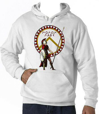 Spartan Warrior 24 Sparta - New Cotton White Hoodie