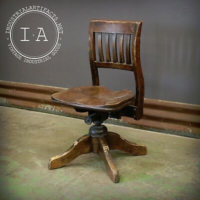 Antique Wooden Bankers Chair