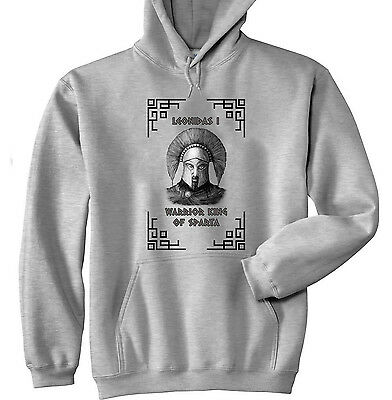 Warrior King Of Sparta Leonidas I - New Cotton Grey Hoodie