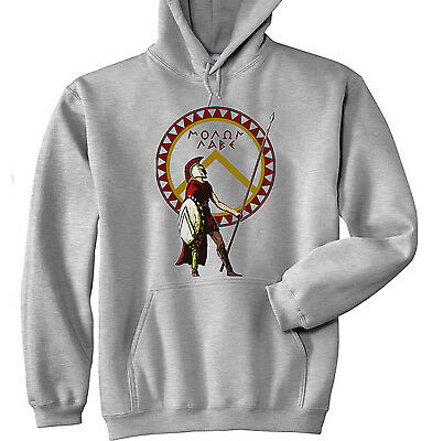 Spartan Warrior 24 Sparta - New Cotton Grey Hoodie