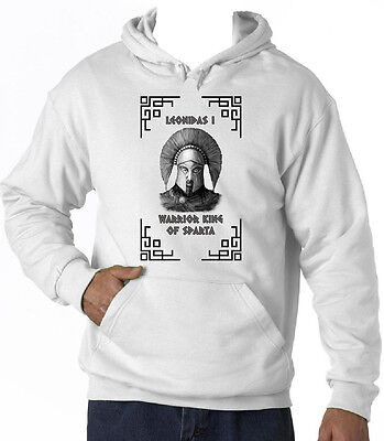 Warrior King Of Sparta Leonidas I - New Cotton White Hoodie