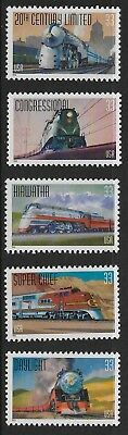 US Stamps #3333-37  Set of 5 Famous Trains Set of 5 Singles MNH