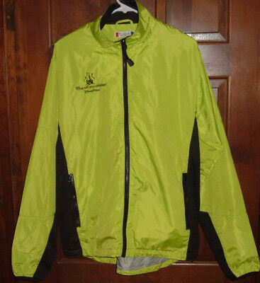 Disney Parks Wind Breaker Rain Jacket Walt Disney World Disneyland Sz M Full Zip