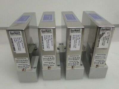 Lot of 4 Burkert 8711 Mass Flow Detectors Air 30 SLPM
