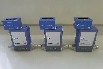 Lot of 3 Clerity IN2 DSRAL100 Mass Flow Controllers N2 173-483 w/ IN2 Adapters