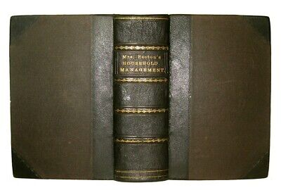 RARE ANTIQUE COOKBOOK Mrs. Beeton's 1869 Victorian Confectionery Pastry Game &c