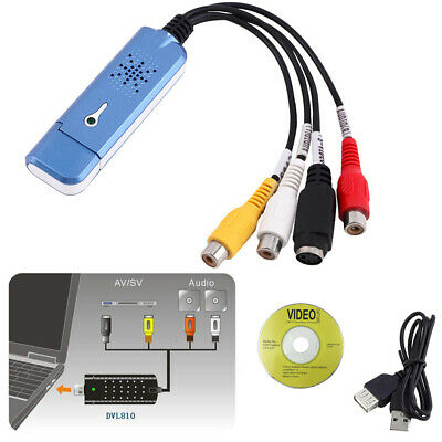8 10 VHS To DVD Adapter Audio Video Grabber TV Tuner USB 2.0 Video Capture Card