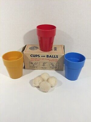 E-Z Magic Cups & Balls - Vintage Close Up Magic Trick Rare Box
