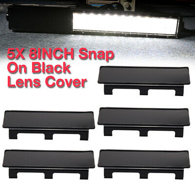 "5pcs Snap On Black Lens Cover For Straight Curved LED Light Bar 50"" 52"" 54"" inch"