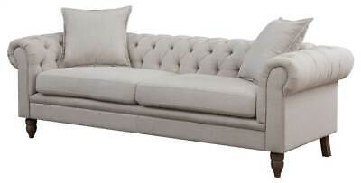 CONTEMPORARY BUTTON TUFTED Living Room Chesterfield Sofa [ID ...