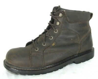Cat Caterpillar Whiston Boots Sz 10 Brown Lace Work Shoe Soft Toe Slip Resistant