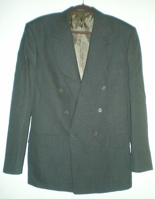 Men's Double Breasted Brown Plaid Wool Suit by Evan-Picone