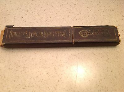 Vintage Straight Razor Box EMPTY Men's Hibbard Spencer Bartlett & Co EMPTY BOX!!