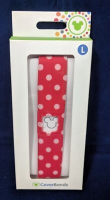 100 Packs off Disney Parks Minnie Mouse Polka Dots CoverBands MagicBand Large