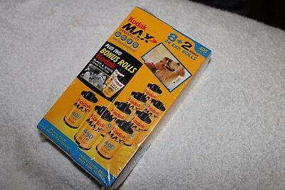 Lot Of 10 Rolls Kodak 35mm Film Max 400 8 Color And 2 Black And White Sealed #9