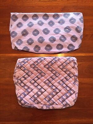 Land Of Nod Crate & Kids Baby Changing Pad Cover & Crib Sheet Purple Bazaar $60
