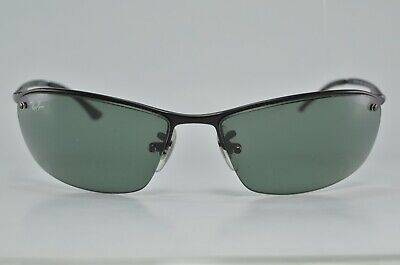 00c2c69c96a140 RAY BAN RB 3183 006 71 63mm Matte Black Green Sunglasses New ...