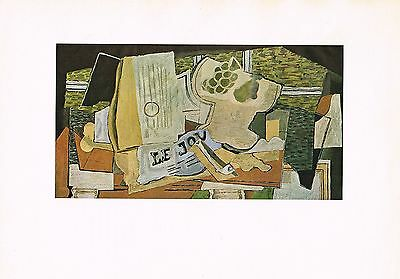 1940s Vintage Georges Braque Journal Still Life Abstract Offset Litho Art Print