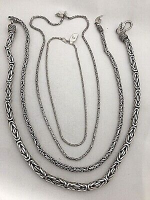 Sterling Silver .925 BYZANTINE CHAIN Necklace