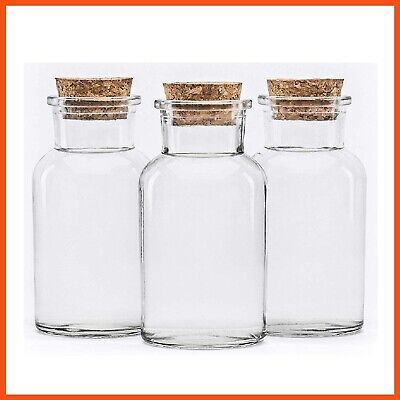 SMALL GLASS BOTTLE WITH CORK LID 250mL | Wedding Favours Bonbonniere Lolly Jars